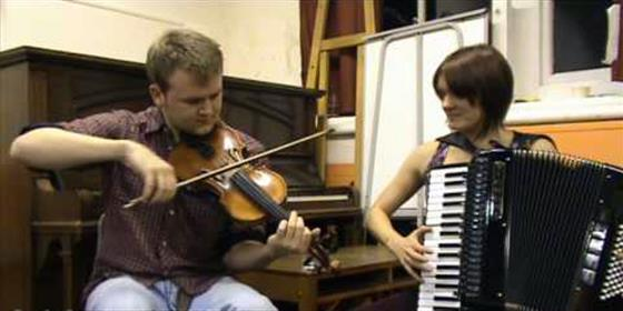 Hannah James & Sam Sweeney play Dick's Maggot/Dog Leaps Stairs